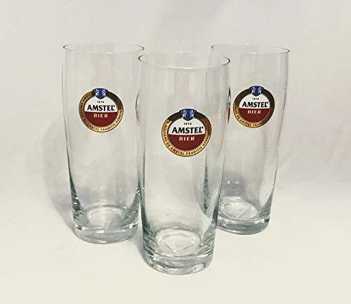 Amstel Bierglazen 0,22 l Bierglas uit Holland/Nederland Bierglas 3-delige set