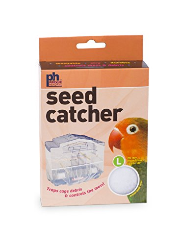 Prevue Pet Products 822W Mesh Bird Seed Catcher, White, Large/13