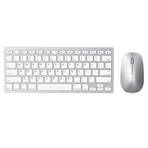 Wireless Keyboard And Mouse For Ipad Ipados 13 And Above Sparin Bluetooth Keyboard Mouse Combo For Ipad Compatible With Ipad 10 2 Ipad Pro Ipad Air Ipad Mini Silver White Buy Online
