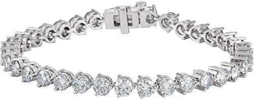 Solid 18k White Gold 12 Cttw Diamond Tennis Bracelet Line Bracelet 7 25 product image