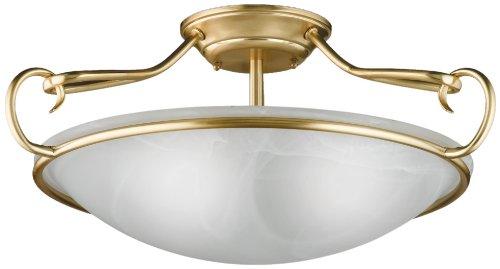 Honsel Leuchten 88973 Deckenleuchte mattmessing Glas alabasterfarbig weiß
