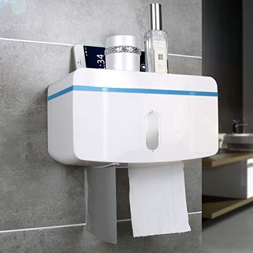 Haute qualité Porte-papier Hygiénique Multifonctionnel Porte-serviette Sans Poinçon Imperméable À L'eau Créatif Tenture Murale Tissu Boîte Accessoires de salle de bain (Couleur : B)