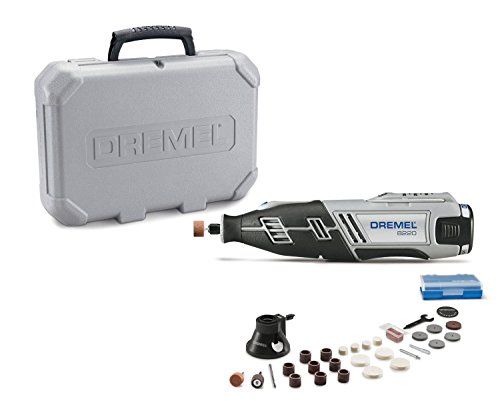 Dremel 8220-1/28 12-Volt Max Cordless Rotary Tool Kit- Engraver, Sander, and Polisher- Perfect for Cutting, Wood Carving, Engraving, Polishing, and Detail Sanding- 1 Attachment & 28 Accessories - 2308361
