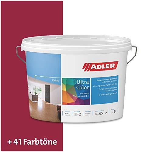 ADLER Ultra-Color Wandfarbe - Volltonfarbe und Abtönfarbe in 100+ Farbtönen - Kalypso C12 101/3 Rot 1 l Atmungsaktiv, Hochdeckend, Lösungsmittelfrei