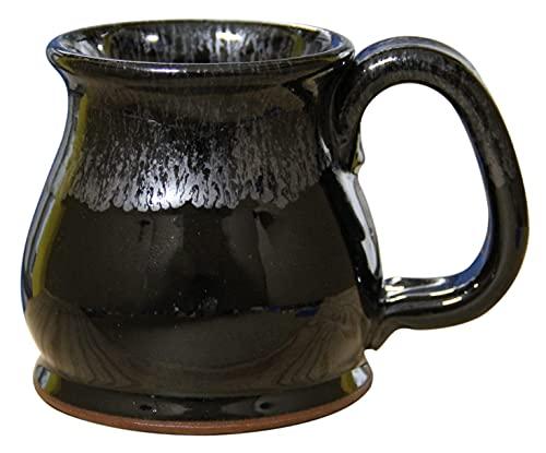 SHS Collection USA Handmade 12oz Coffee Mug Potbelly (Silvery Night)