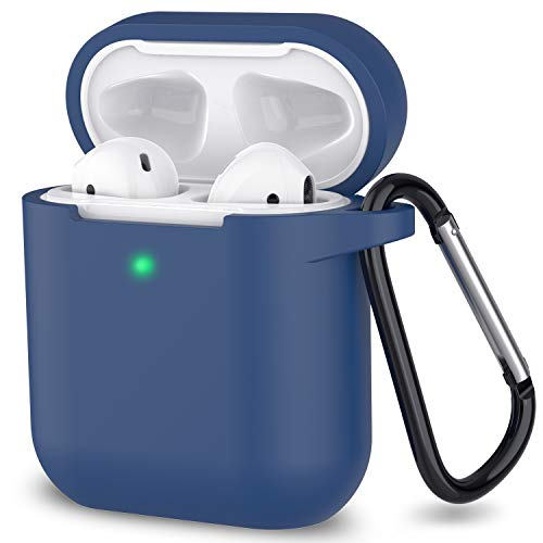 AirPods Case, Full Protective Silicone AirPods Accessories Cover Compatible with Apple AirPods 1&2 Wireless and Wired Charging Case(Front LED Visible),Royal Blue
