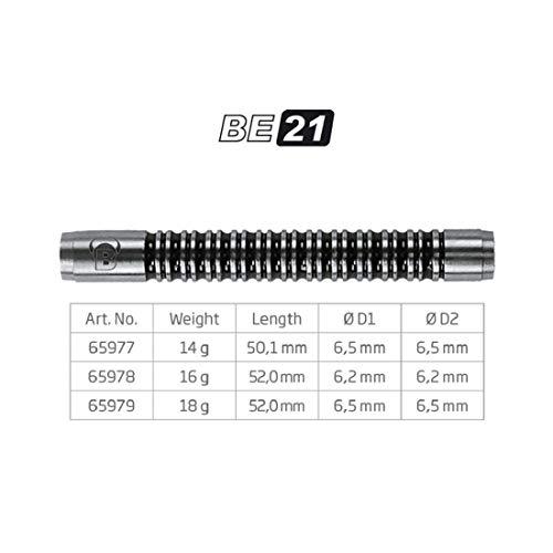 BULL'S Be-21 Soft Dart Barrel 18g, silber