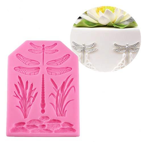 Laxtto 1pc Libelle Silikonform Kerze Polymer Clay Formen Fondant Kuchen Schokoladenform DIY Küche Backwerkzeuge