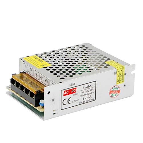 HAI Adaptador de Corriente Transformador AC110V / 220V a DC 5V 5A 25W Fuente de alimentación conmutada regulada Universal