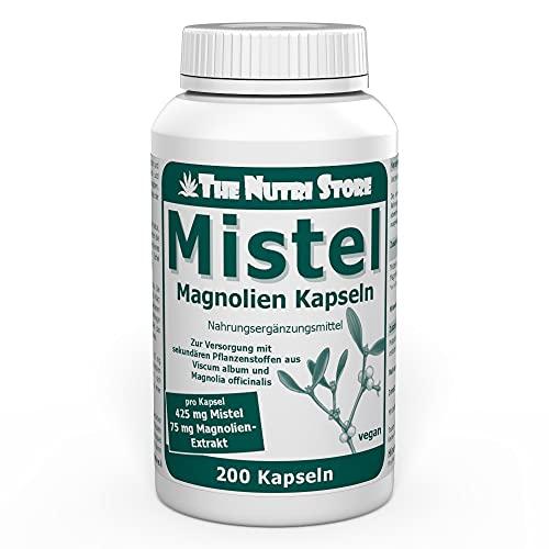 Mistel 425 mg Magnolienextrakt vegane Kapseln 200 Stk. - Zur Versorgung mit sekundären Pflanzenstoffen aus Viscum album und Magnolia officinalis