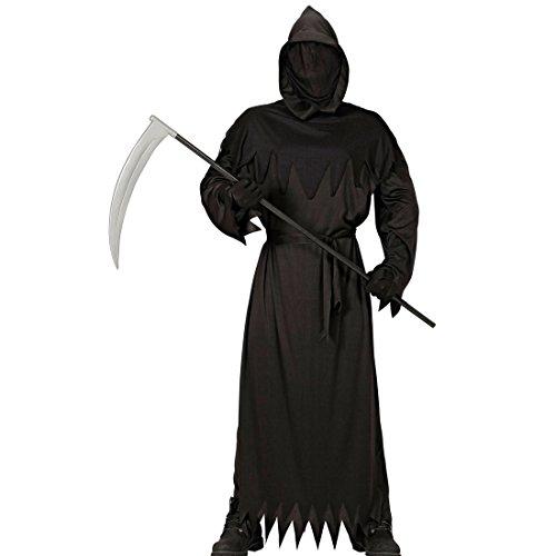 Amakando Halloween Verkleidung Jungen - 140, 8 - 10 Jahre - Sensenmann Kinder Kostüm Halloweenkostüm Gevatter Tod Geisterkostüm Kinderkostüm Henker Sensenmann Kinder Kostüm