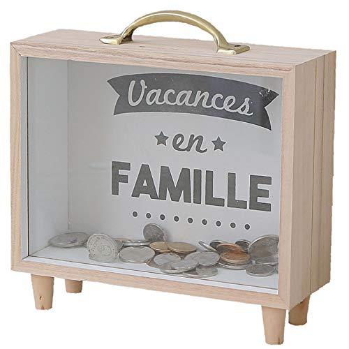 OOL Piggy Bank, Madera Transparente De Madera, Hucha, Es Un Regalo para Adultos Y Niños Familiares.