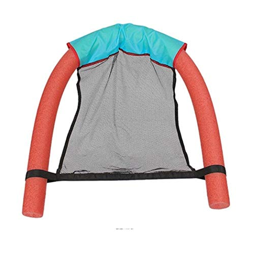 FTFSY Swimming Pool Float Chair Soft Comfortable Inflatable Adult Seats Blue, Green, Red, Yellow,red,6.5 x 150cm