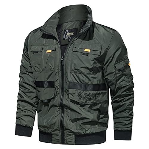 Letra bordado táctico chaqueta hombres algodón cremallera bomber chaquetas militares masculino nuevo al aire libre rompevientos hombres ejército de flujo abrigos hombres al aire libre chaqueta