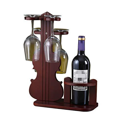 MICEROSHE Regalos para el Hogar Estante de Vino de Estilo violín Vertical DE Vino INVERTIDO COBILLO DE Pantalla DE Pantalla DE Pantalla DE Pantalla DE Almacenamiento DE Vino Estante de Vino Popular