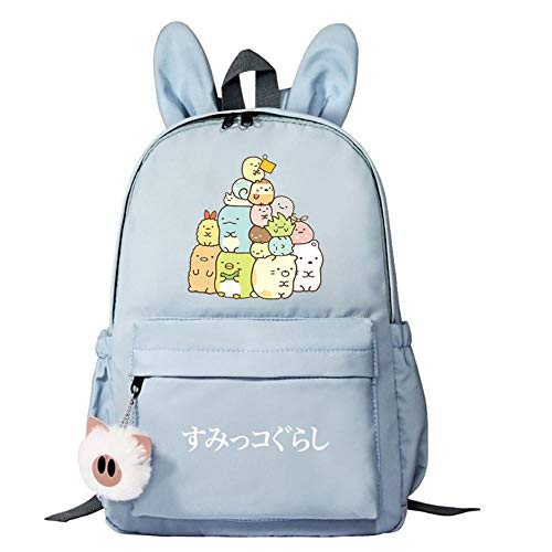 High-Quality School Bag Rabbit Ears Primary School Girl Travel and Leisure Backpack-blue2_38CM(H)*28CM(L)*10CM(W)