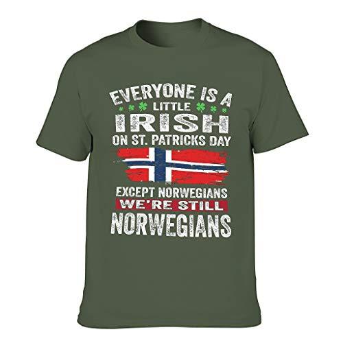 3D Kreativ Männer T-ShirtsKurzen ÄrmelsTee Slim Fit T-Shirt 3D Kreativ MusterT-Stücke Army Green l