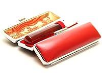 「琥珀樹脂印鑑16.5mm×60mm牛皮ケース(赤)付き」 縦彫り 篆書体