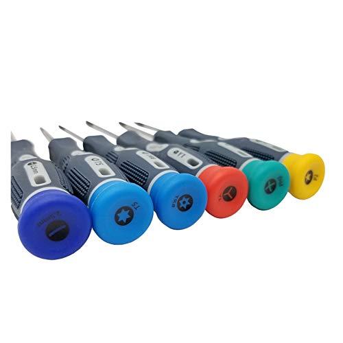 ZZHH Juego de destornilladores de precisión de 16 piezas S2 de acero con magnético