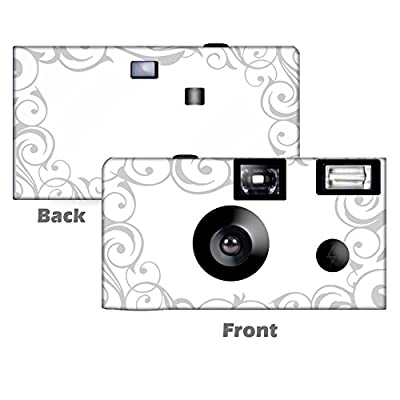 5 Elegant Wedding in Silver Disposable Cameras, Anniversary, Single use, Flash WM-50452-C by CustomCameraCollection