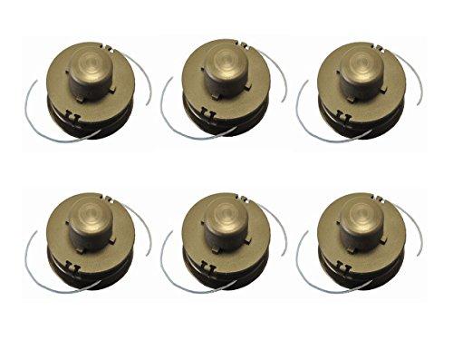 Ersatzspulen Nylon 6er Pack für Akku-Rasentrimmer Baricus+