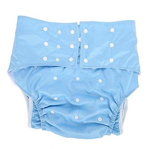 Bycloth Waschbar Erwachsenen Windel Stoff Tasche Windel Abdeckung einstellbare Größe für ältere und behinderte Erwachsene,lightblue