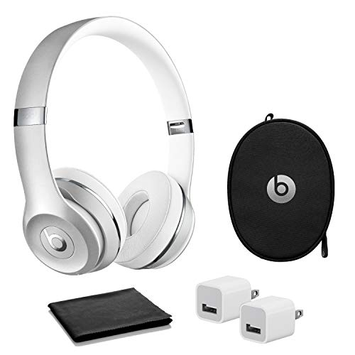 Beats by Dr. Dre - Solo? The Beats Icon Collection Wireless On-Ear Headphones - Satin Silver- with USB Adapter