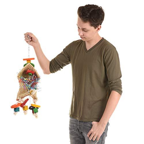 Wagner's ® | Zauberhut mit Edelstahl Kette von Happybird(R) Papageienspielzeug, Spielzeug für Papageien