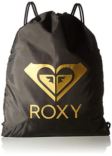 Roxy Light AS A Feather Solid, Bolsa de Gimnasio o Mochila. para Mujer, Antracita, Medium