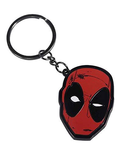 Half Moon BayDeadpool Schlüsselring Keychain Mask Logo Nue offiziell Rot metal, Mehrfarbig, Einheitsgröße