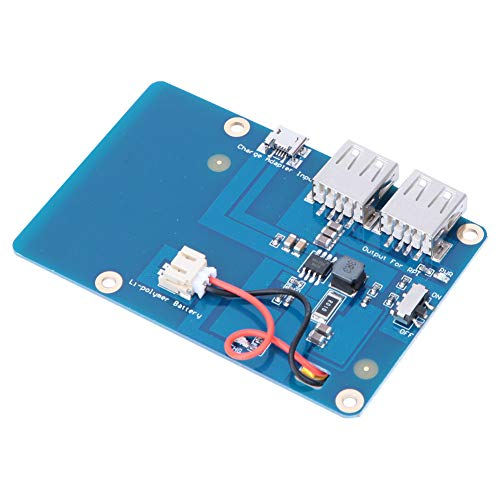Weikeya Mobile Battery Power Expansion Board, Halterung Motherboard aus Metall Kunststoff 3800mAh 9,6 x 6,6 cm für Raspberry Pi3