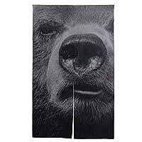 SAIAOS 間仕切り のれん 巨大な変な顔を持つ大きなツキノワグマ リビング階段や玄間 ロング暖簾 キッチン 窓 リビング おしゃれ かわいい インテリア 目隠しドアカーテン
