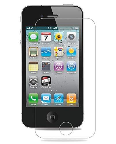 Smartphone-Equipment [2er Pack] Panzerglas für Apple iPhone 4, 4S gehärtetes Glas 9H, Echtglas Glasfolie Schutzfolie Displayfolie Panzerfolie Glas Folie Displayschutz