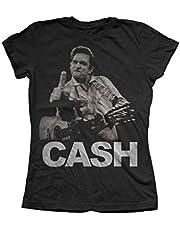 Johnny Cash - Womens de vogel T-Shirt