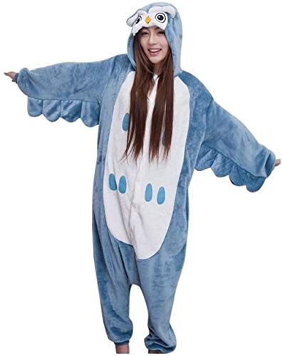 Black Sugar Mono Kigurimi Pijama Pijama Búho Dragón Gato Negro Rosa Ane Conejo Azul Adulto Adolescente Unisex Peluche Suave Disfraz Carnaval Sin Pantuflas S M