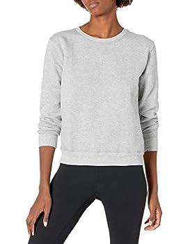 Hanes Women s EcoSmart Crewneck Sweatshirt Light Steel M