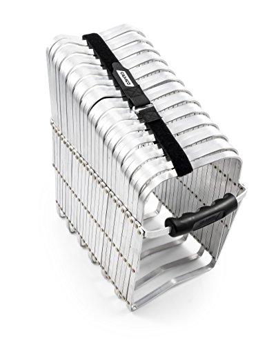 Camco Aluminum Sewer Hose Support - Supports Sewer Hoses Up to 15'| Includes Strap Kit to Secure Your Hose in Place |Durable Construction| Lightweight Design - (40353)