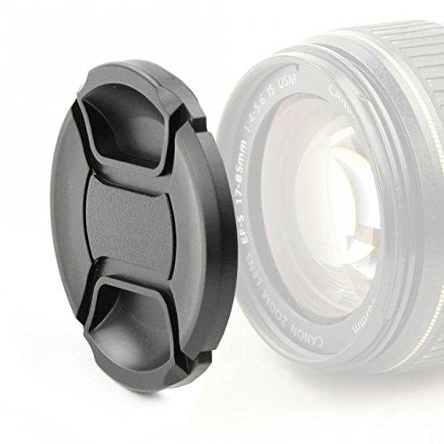 Capuchon d'objectif (Avant) pour Panasonic Lumix G 12-32mm 3,5-5,6 42,5mm 1,7 14-42mm 3.5-5.6 (Ø 37mm - DMW-LFC37), Snap-on: Pincement Central Couvercle, Capot de Protection