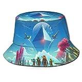 No Man s Sky Sombrero de Pescador Verano Protección UV Sombreros de Cubo de Viaje Gorra de Sol Plegable de Playa para Hombres y mujeres-7BO