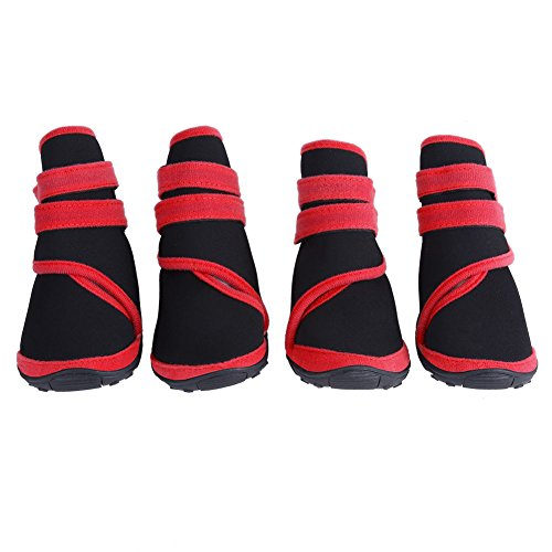 Pet Dog Boots Waterproof Anti-Slip Puppy Winter Outdoor Shoes