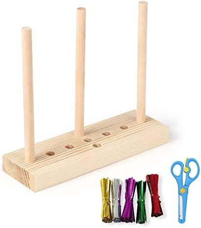 Bow Maker for Ribbon DIY Bow Making Kit Wooden Bow Ribbon Maker with 100pcs Twist Ties and Scissors product image
