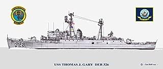 USS Thomas J. Gary DER-326 Ship Print