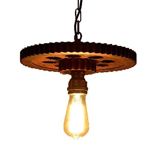 KMYX Amerikaanse antieke houten transmissie kroonluchter industrie loft creatieve Cafe bar restaurant hanglamp 1-licht of 3-licht-kroonluchter plafondlamp (zonder lampen)