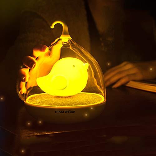 Cuican Led-nachtlampje, met touch-sensor, warme tafellamp voor kinderkamer, bed, leeslamp