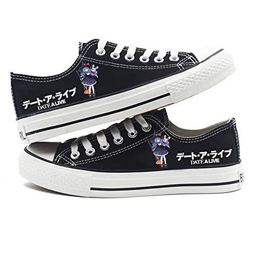 HAIGAFEW Dames Chaussures En Toile Chaussures Casual Lace Up Retro Low Top Flat Gym Sports Trainers Baskets Légères Pompes De Mode,36