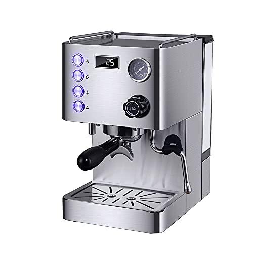 LZHYA Espressomaschinen,1450 W, 3-Loch-Dampfrohr, 15-bar-Pumpe, 550 Ml, Espresso-Automat Kaffee-Maschine, Cappuccinomaschine, Milchaufschäumer Mit Dampf- Und Heißwasserfunktion