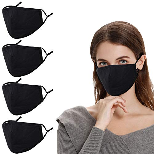 Designer Reusable Cloth Face Mask Adult Men Women Youth, Lanyard Strap Clip, Black Breathable Washable Fashion Cotton Fabric Madks Mouth Nose, Cubre Bocas Tapa para Mascarillas Tela Diseño,Gift