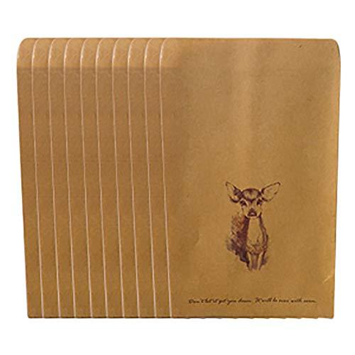 Oyfel Sobres Kraft Bolsillo Antiguos Pequenos Regalo Personalizados Rectangulares Cuadrados Retro de Papel 11x15cm 10 Pcs