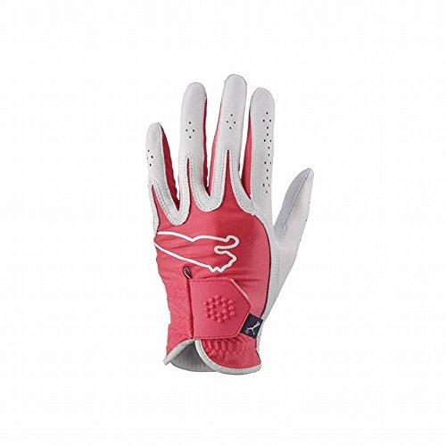 PUMA Ladies Monoline Performance Golf Glove (Red, Medium, Right)
