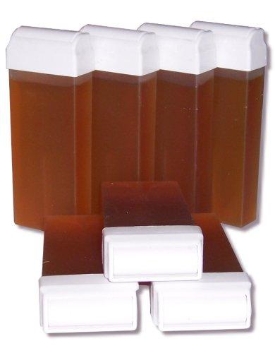 Storepil - 7 recharges 100 ml de cire à épiler jetable TOPAZ type Miel pour épilation avec bandes